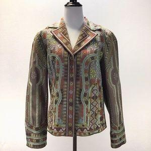 Coldwater Creek Embroidered Jacket Blazer 12
